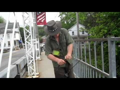Fishing report - NJ Fishing - Watch Ken & Sharon catch Trout off the Bridge in Califon New Jersey 5/16/2011 Video