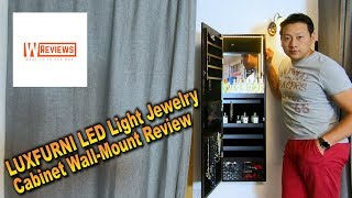 LUXFURNI LED Light Jewelry Cabinet review