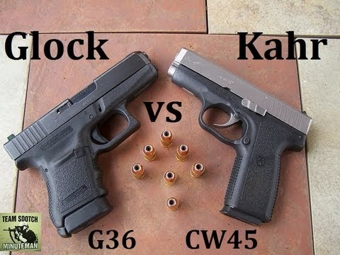 Glock 36 vs Kahr CW45 Pistol Comparison