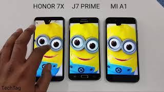 مقارنة سريعة بين ( Honor 7X vs Samsung J7 Prime vs Mi A1) لامكانيات الشاشة والنظام وسرعة الجهاز