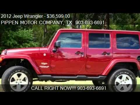 2012 Jeep Wrangler Sahara - for sale in Carthage, TX 75633
