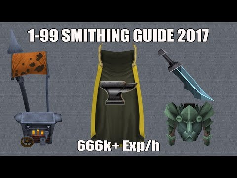 [Runescape 3] 1-99 Smithing Guide 2017 | Fast, AFK & Cheap Methods!