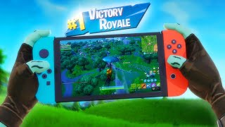 FIRST TIME PLAYING FORTNITE ON THE NINTENDO SWITCH