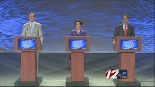 Democrats for RI gov battle in aggressive TV debate