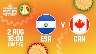 Сальвадор до 18 (Ж) : Канада до 18 (Ж)
