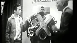 VINTAGE 1956 FORD THUNDERBIRD ENGINE COMMERCIAL - THE SON TEACHES HIS IGNORANT FATHER