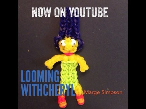 Rainbow Loom MARGE SIMPSON - The Simpsons - Gomitas - Looming WithCheryl
