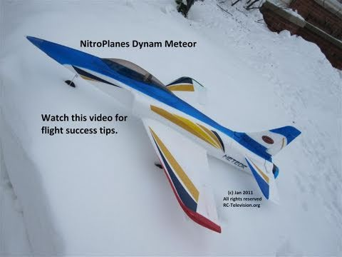 NitroPlanes Meteor 125 MPH jet with flight success tips.