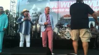 Hansel y Raul with Pitbull - Kings of Carnaval Miami