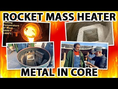 do NOT use metal in the core of a rocket mass heater