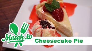 Cheesecake Pie with Strawberry | Resep #184