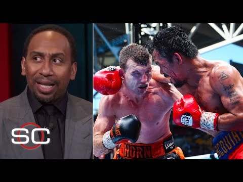 Stephen A. Smith Can't Believe The Judges' Decision On Pacquiao-Horn Fight   SportsCenter   ESPN