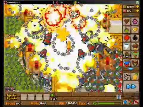 BTD5 Tutorial Bloon Tower Defense 5 Level 200!  Expert HARD