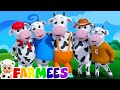 five little cows | nursery rhymes farmees | 3d rhymes | kids ...