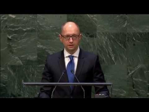 Kremlin Must Stop Arming Insurgents: Ukrainian PM Yatsenyuk asks UN not to lift Russia sanctions