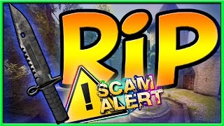 CS:GO - I got SCAMMED AGAIN !! CS:GO Knife Scam.... Dota 2 Items Scam + How to Avoid Common Scams