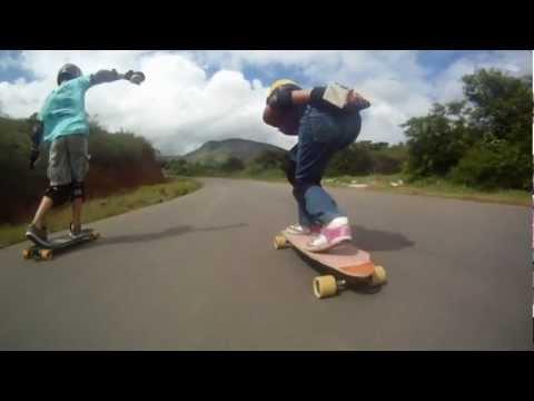 Skate Downhill Speed - Fernandinha Rodrigues 10 anos - Rubim Downill - Espirito Santo - gopro