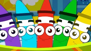 Five Little Crayons | Nursery Rhymes For Babies | Songs For Kids And Childrens