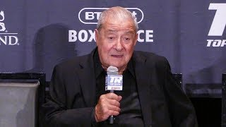 Bob Arum POST FIGHT REACTION! Tyson Fury TKO WIN vs. Tom Schwarz | Top Rank Boxing