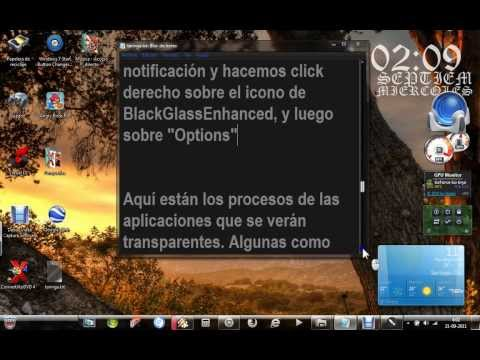 Windows Media Player Full Glass, Transparente de Verdad