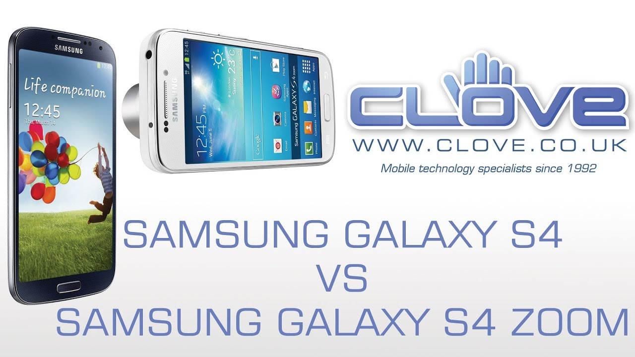 Samsung S4 Zoom Vs S4 Samsung Galaxy S4 vs S...