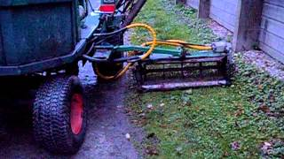 Ransomes 350 ride on gang mower huge 11 feet wide cut