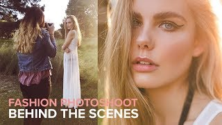 85mm Golden Hour Fashion Photoshoot Behind the Scenes