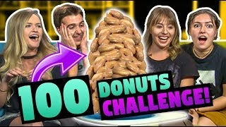 100 DONUTS CHALLENGE! (ft. FBE React Cast)