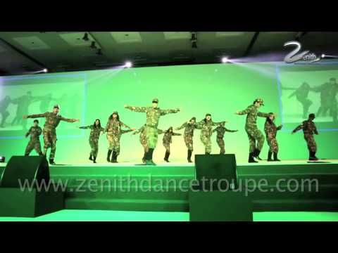 Kandhon Se Milte Hain,chakde India, Hindustani Army Theme Zenith Dance Company video