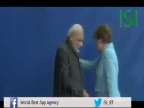 German Chancellor Angela Merkel ignores handshake with Narendra Modi