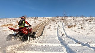 Raptor 700 Winter Hillclimb, Donuts, and Exhaust Notes