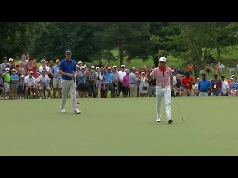 Rickie Fowler ignites the crowd on No. 2 at TOUR Championship