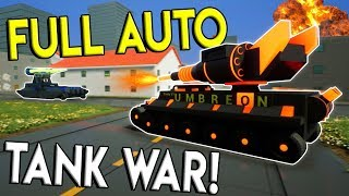 INSANE LEGO AUTO FIRE TANK WAR! - Brick Rigs Gameplay Multiplayer Challenge - Lego Tank Base Battle