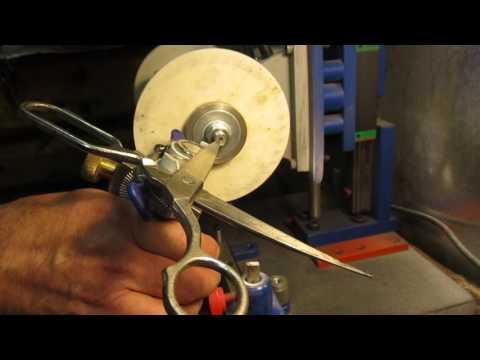 Приспособление для заточки ножниц на наждаке своими руками