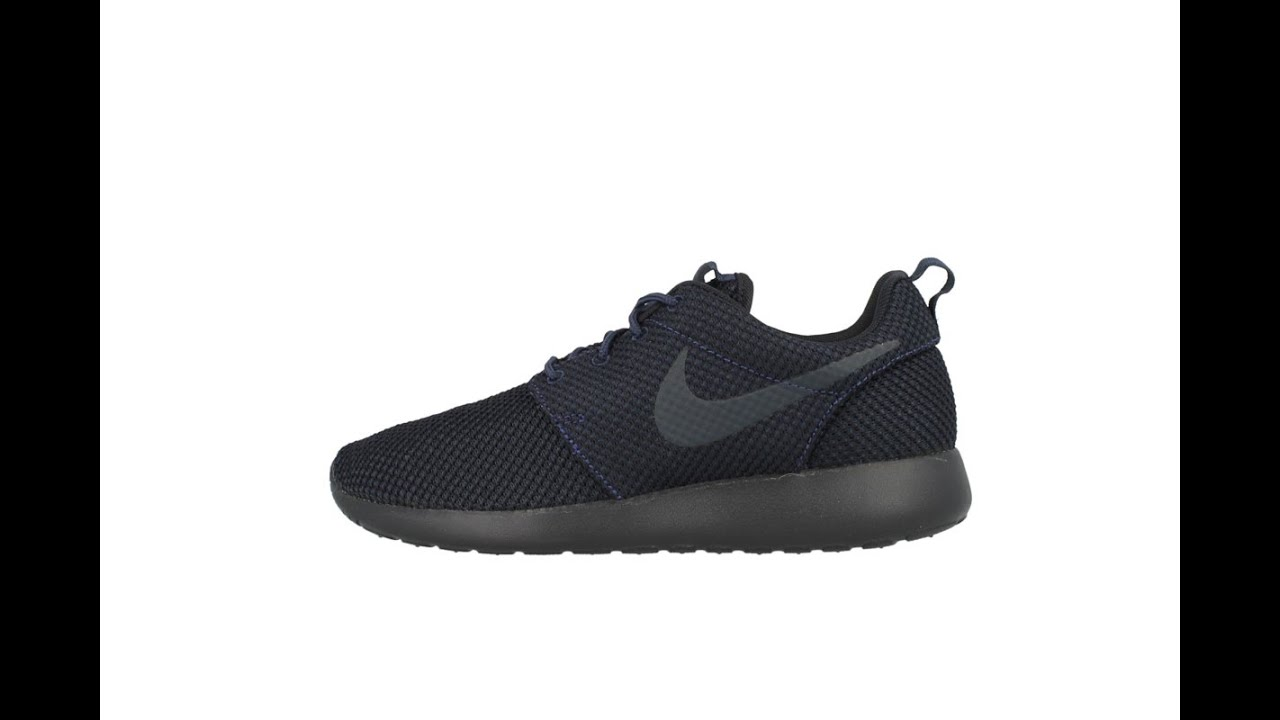 ttlloi QUJBI Black Friday Mens Cheap Nike Roshe Run Junior Black Red UK