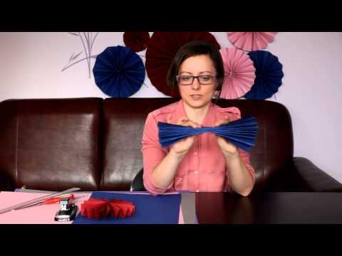 Papierowe dekoracje ślubne - jak zrobić rozety z papieru?