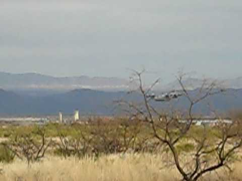 C-130 doing a low level at Ft Huachuca, AZ