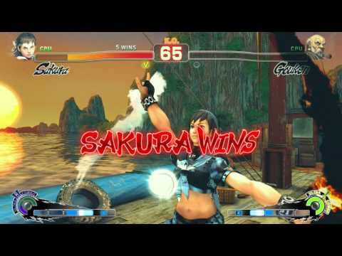 Ultimate Sakura - Street Fighter IV Arcade Edition Mod Combo Video (PC) HQ