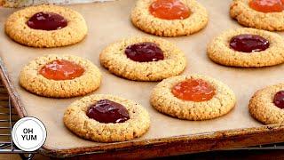 How To Make Flourless Almond Butter Thumbprint Cookies