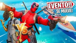 🔴AHORA EVENTO FINAL *DEADPOOL VS MIDAS* SE MUEVE BARCO,  EN DIRECTO FORTNITE!!
