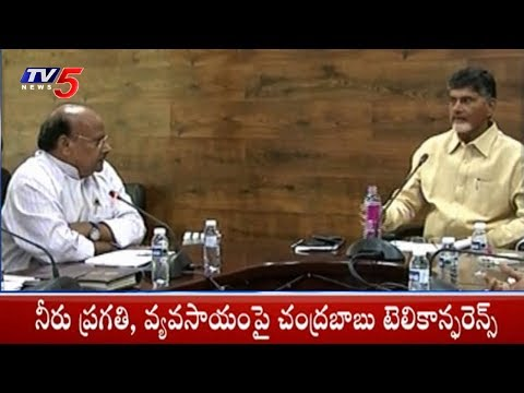 AP CM Chandrababu Naidu Holds Teleconference On Neeru Pragathi Program | TV5 News