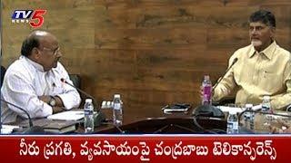AP CM Chandrababu Naidu Holds Teleconference On Neeru Pragathi Program