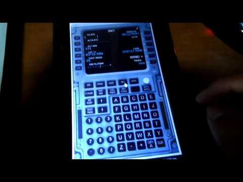 MCDU ( FMC ) en Tablet ( Android ) Flight Simulator