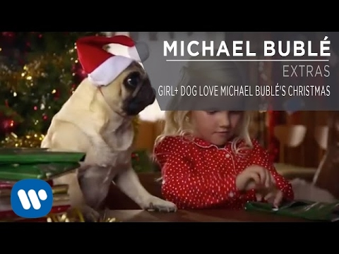 Girl+ Dog Love Michael Bubl's Christmas
