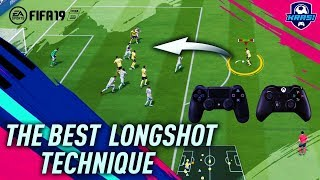 FIFA 19 LONG SHOT TUTORIAL - THE SECRET TO SCORE GOALS FROM LONG SHOTS in FIFA 19 - TIPS & TRICKS!