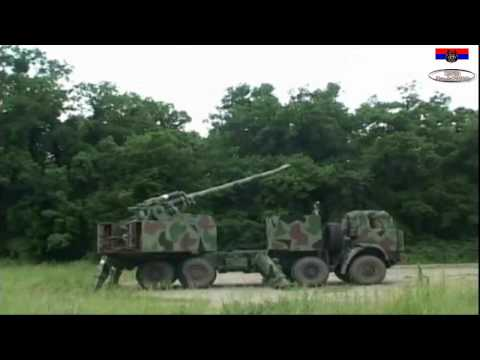 Serbian Army - NORA B-52 Self-Propelled Artillery 152 mm