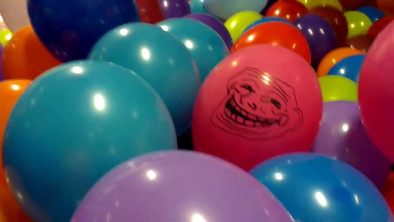 Ghost Balloons Faces 1500 Balloons Prank Troll Face