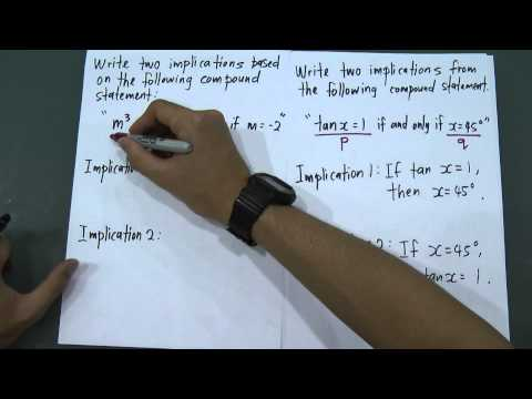 SPM - Form 4 - Modern Maths - Mathematics reasoning (Implication)