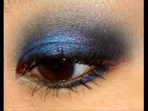 Smokey Royal Blue Eye Makeup Tutorial