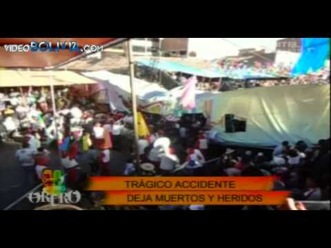 Accidente Carnaval de Oruro 2014